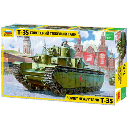 ZVEZDA 3667 T-35 Heavy Soviet Tank 1:35 Military Model Kit