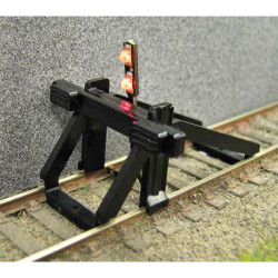 GAUGEMASTER Buffer Stop - w/ Light OO Gauge Track GM55