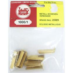 LGB Metal Rail Joiners 10 Pieces - G Gauge 10001