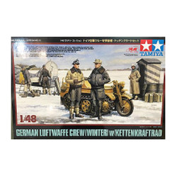 TAMIYA 32412 Luftwaffe & Kettenkraftrad (RR) 1:48 Figures Model Kit