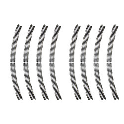 HORNBY Track R8262 8x Radius 4 Double Curve