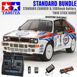 TAMIYA RC 58570 Lancia Delta (TT-02) 1:10 Standard Stick Radio Bundle