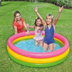Intex Sunset Glow Inflatable Paddling Swimming Pool, 147cm x 33cm