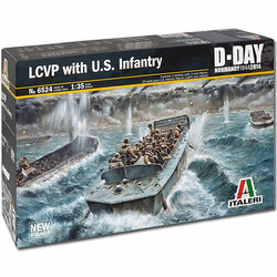 ITALERI LCVP With US Infantry D-Day 6524 1:35 Military Model Kit