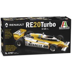 ITALERI 4707 Renault RE23 Tubo F1 Car 1:12 Plastic Model Kit