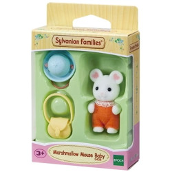 Sylvanian Families Marshmallow Mouse Baby Family Figure 5408