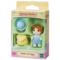 Sylvanian Families Maple Cat Baby Family Figure 5409