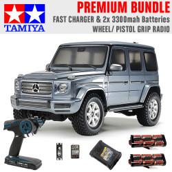 TAMIYA RC 58675 Mercedes-Benz G500 CC-02 1:10 Premium Wheel Radio Bundle