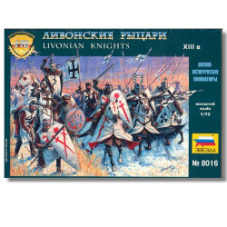 Zvezda 8016 Livonian Knights XIII A.D. Teutonic Order 1:72 Model Figure Kits