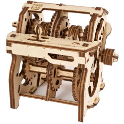 UGEARS STEM lab Gearbox Mechanical Wooden Model Kit 70131