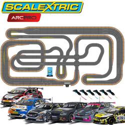 SCALEXTRIC Digital Bundle SL16 ARC PRO JadlamRacing Layout with 6 Cars