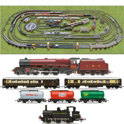 HORNBY Digital Train Set HL12 Large Layout - Multi Track w/ 2 Trains & Turntable