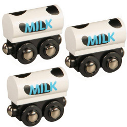 Milk Train Set of 3 for Wooden Railway Train Set 50481 Brio Compatible