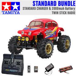 TAMIYA RC 58618 Monster Beetle 2015 off road 1:10 Standard Stick Radio Bundle