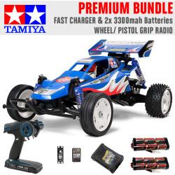 TAMIYA RC 58416 Rising Fighter Buggy 1:10 Premium Wheel Radio Bundle