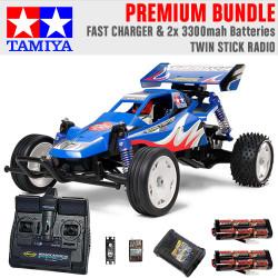 TAMIYA RC 58416 Rising Fighter Buggy 1:10 Premium Stick Radio Bundle