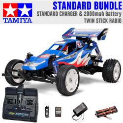 TAMIYA RC 58416 Rising Fighter Buggy 1:10 Standard Stick Radio Bundle