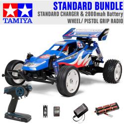 TAMIYA RC 58416 Rising Fighter Buggy 1:10 Standard Wheel Radio Bundle