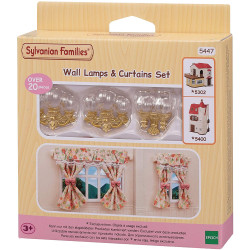 SYLVANIAN Families Wall Sconces & Curtain Set 5447