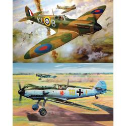 Airfix Supermarine Spitfire MK1A & Messerschmitt Bf109E 1:24 Model Kit Twin Pack