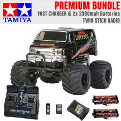 TAMIYA RC 58546 Lunch Box Black Edition 1:12 Premium Stick Radio Bundle