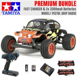 TAMIYA RC 58502 Blitzer Beetle 1:10 Premium Wheel Radio Bundle