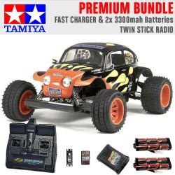 TAMIYA RC 58502 Blitzer Beetle 1:10 Premium Stick Radio Bundle