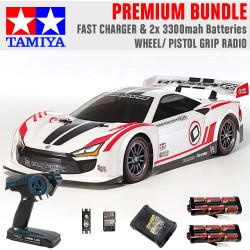 TAMIYA RC 58626 Raikiri GT TT-02 1:10 Premium Wheel Radio Bundle