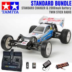 TAMIYA RC 58587 Neo Fighter Buggy DT03 1:10 Standard Stick Radio Bundle