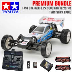 TAMIYA RC 58587 Neo Fighter Buggy DT03 1:10 Premium Stick Radio Bundle