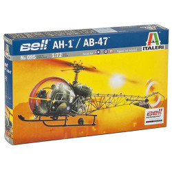 ITALERI AH.1/AB-47 Helicopter 095 1:72 Aircraft Model Kit