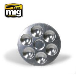 Ammo by Mig Aluminium Pallet 6 Wells For Model Kits Mig 8008