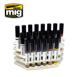 Ammo by Mig Oilbrusher Organizer For Model Kits Mig 8020