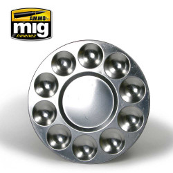 Ammo by Mig Aluminium Pallet 10 Wells For Model Kits Mig 8009