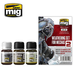 Ammo by Mig Weathering Set For Mechas For Model Kits Mig 7429