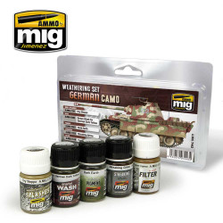 Ammo by Mig German Camouflage Weathering Set For Model Kits Mig 7443