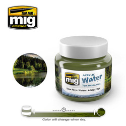 Ammo by Mig Slow River Waters Acrylic 250ml For Model Kits Mig 2204