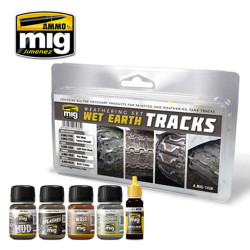 Ammo by Mig Wet Earth Tracks Weathering Set For Model Kits Mig 7438