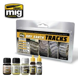 Ammo by Mig Dry Earth Tracks Weathering Set For Model Kits Mig 7437