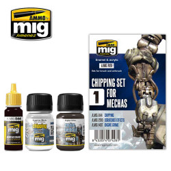 Ammo by Mig Chipping Set For Mechas For Model Kits Mig 7428
