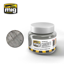 Ammo by Mig Concrete Texture 250ml For Model Kits Mig 2108