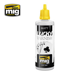 Ammo by Mig Matt Lucky Varnish 60ml For Model Kits Mig 2051