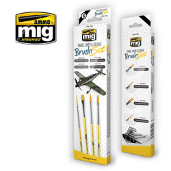 Ammo by Mig Panel Lines And Fading Brush Set For Model Kits Mig 7605