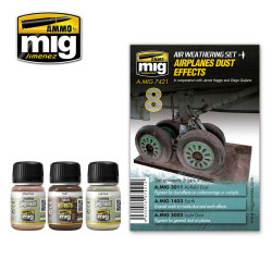 Ammo by Mig Airplanes Dust Effects Weathering Set For Model Kits Mig 7421