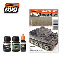 Ammo by Mig Panzer Grey Set For Model Kits Mig 7407