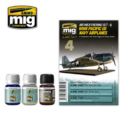 Ammo by Mig WWII Pacific Us Navy Weathering Set For Model Kits Mig 7417