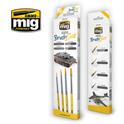 Ammo by Mig Starter Brush Set For Model Kits Mig 7602