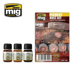Ammo by Mig Pigments Rust Enamel Weathering Set For Model Kits Mig 7400