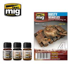 Ammo by Mig Rusty Vehicles Enamel Weathering Set For Model Kits Mig 7403