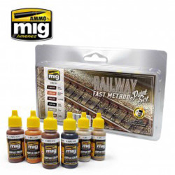 Ammo by Mig Railway Fast Method Paint Set For Model Kits Mig 7471